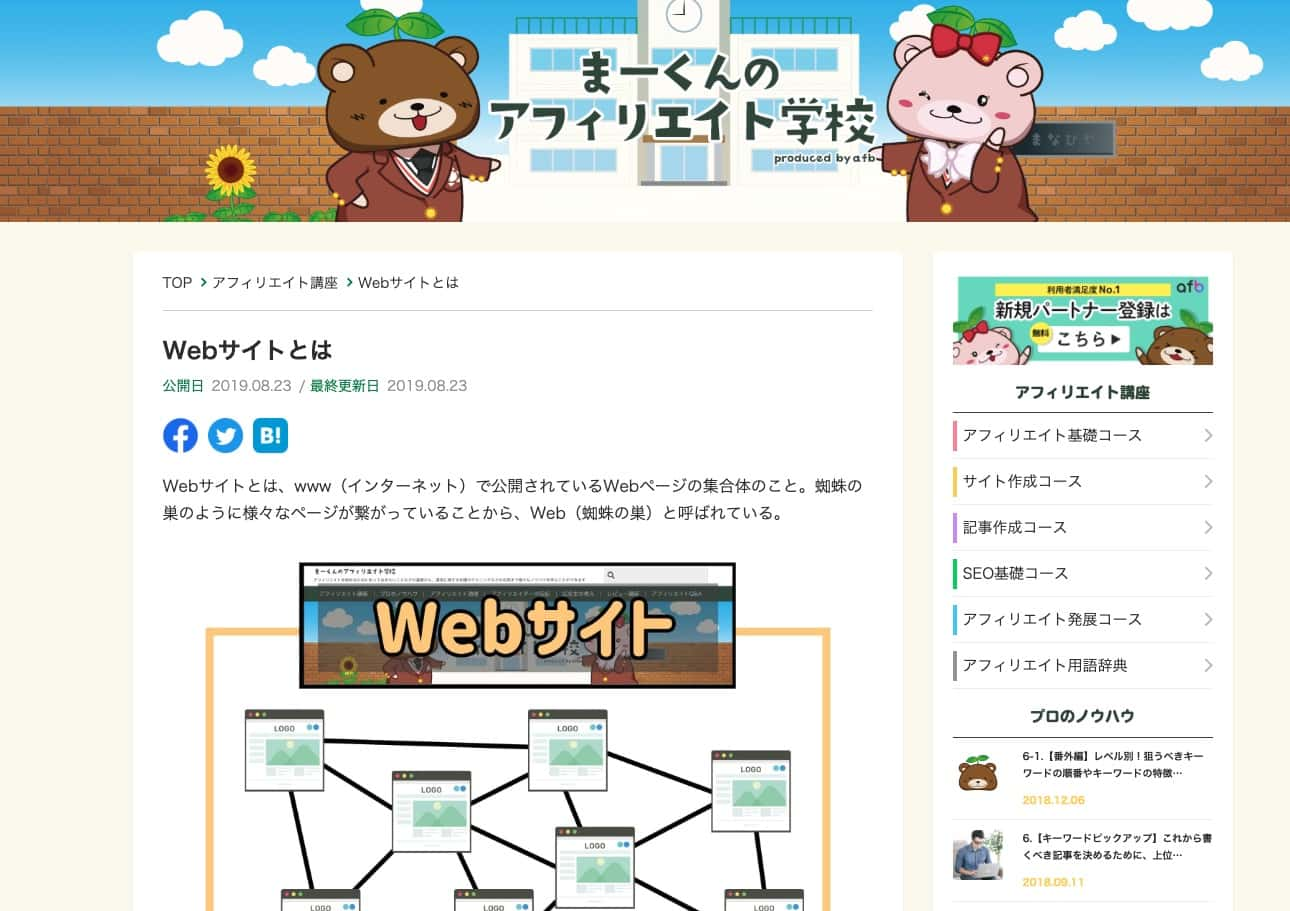 Webページの場所を示す画像