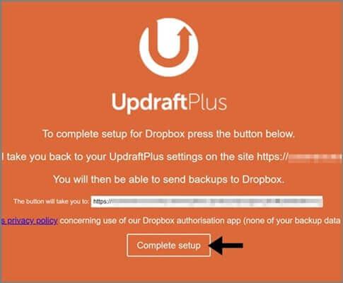 UpdraftPlus_Dropbox_連携