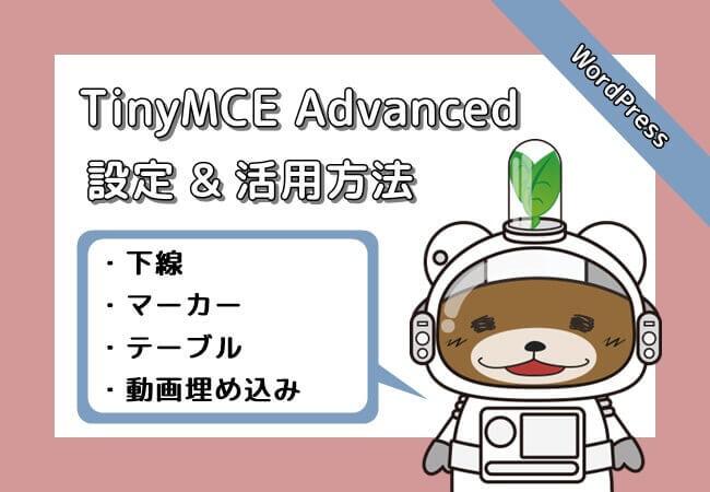 TinyMCE_Advanced_使い方