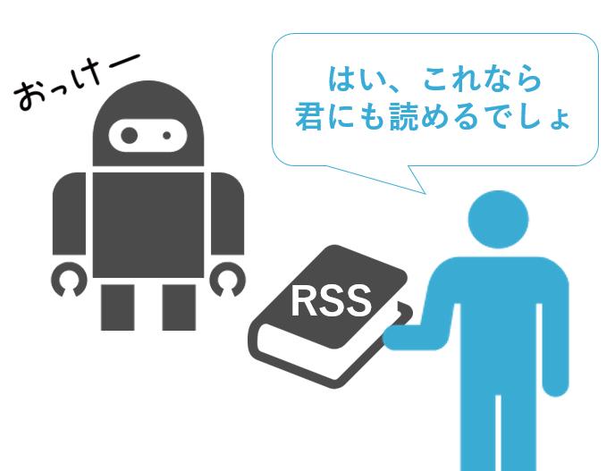 RSSはコンピューターに読ませる文書