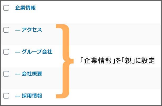 固定ページ_階層
