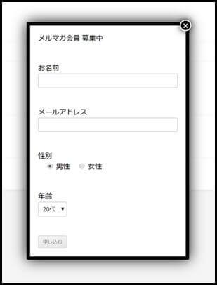 入力フォーム_ポップアップ