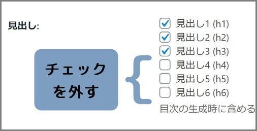 チェック_外す