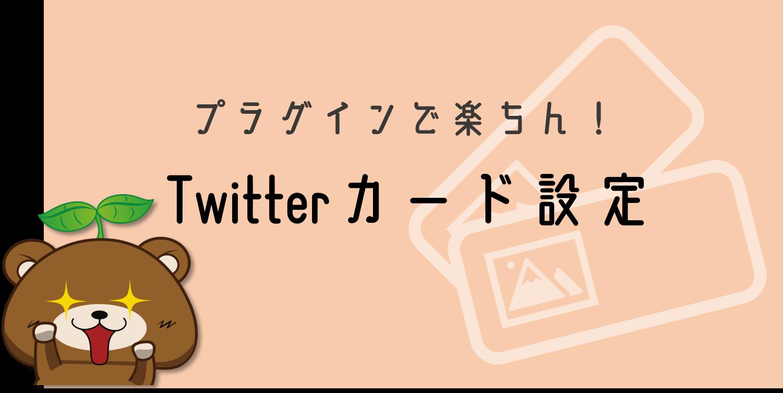 Twitterカードをプラグインで設定する手順
