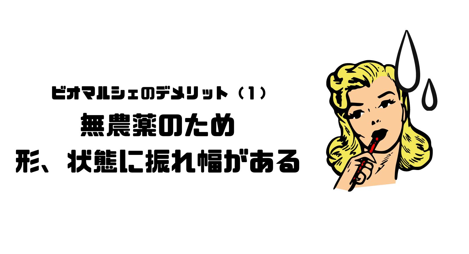 ビオマルシェ_評判_口コミ_デメリット_野菜_形_状態