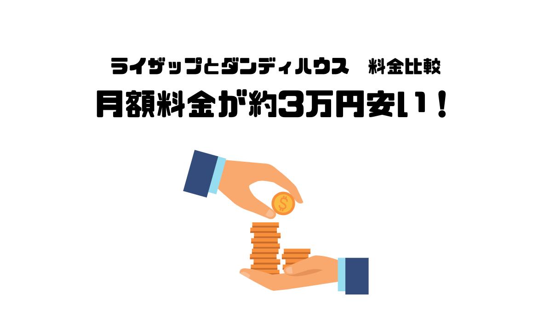 ダンディハウス_口コミ_評判_ライザップ_RIZAP_違い_比較_月額料金