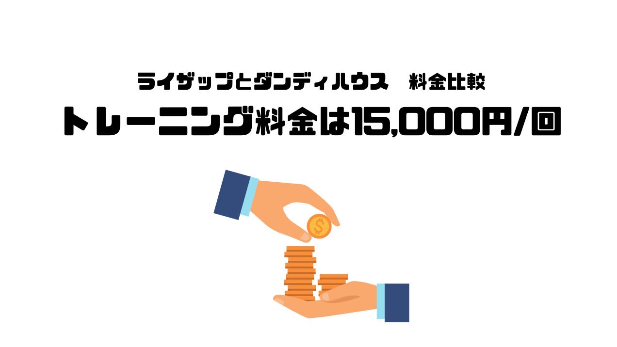 ダンディハウス_口コミ_評判_ライザップ_RIZAP_違い_比較_トレーニング料金_15,000円