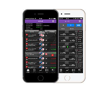 fx アプリ_トライオートFXのスマホアプリのイメージ画像