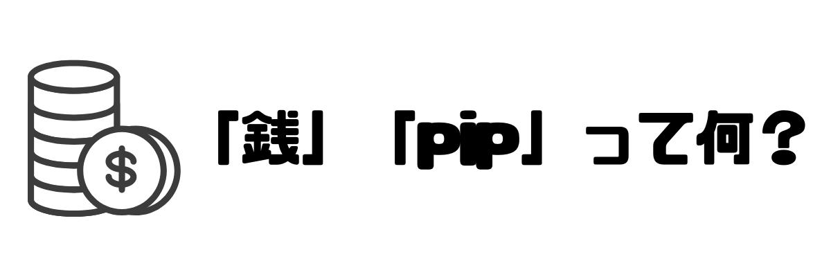 FX_銭_pip_違い