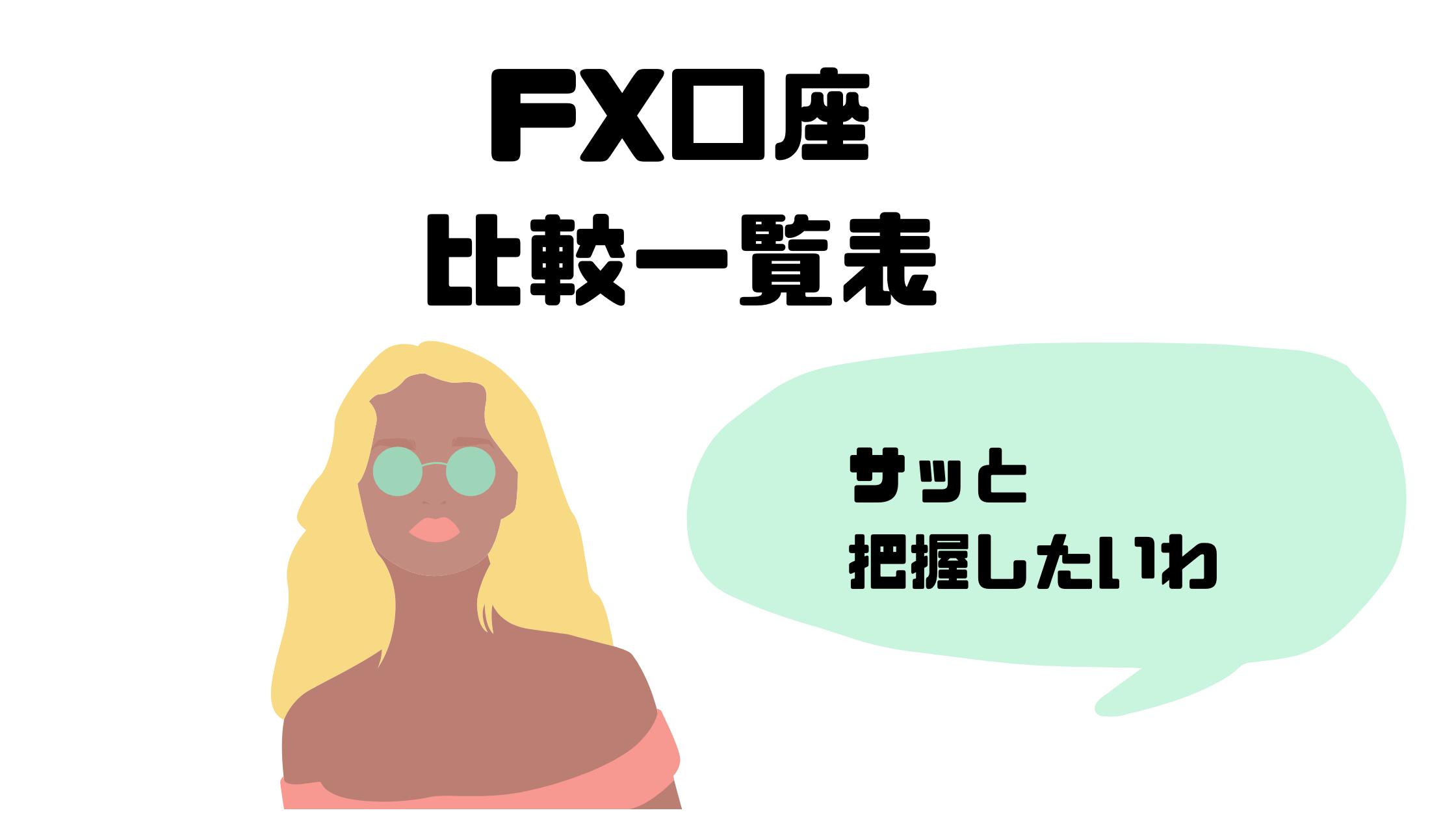 FX_口座_比較