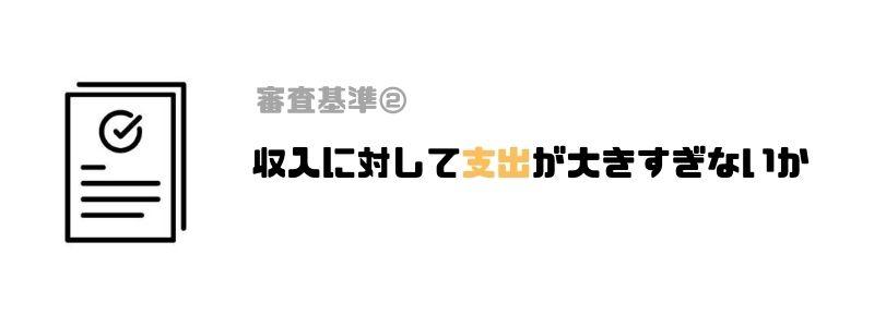 カードローン_審査_甘い_支出