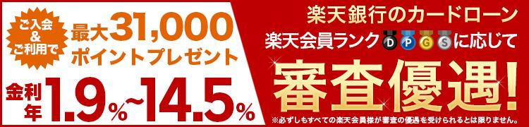 カードローン_会社員_楽天銀行
