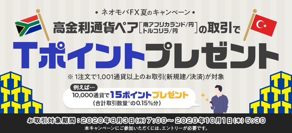 ネオモバFX_評判_Tポイントプレゼント