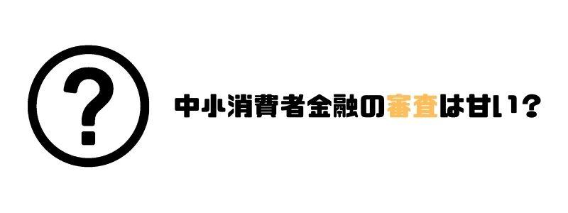 中小消費者金融_おすすめ_審査