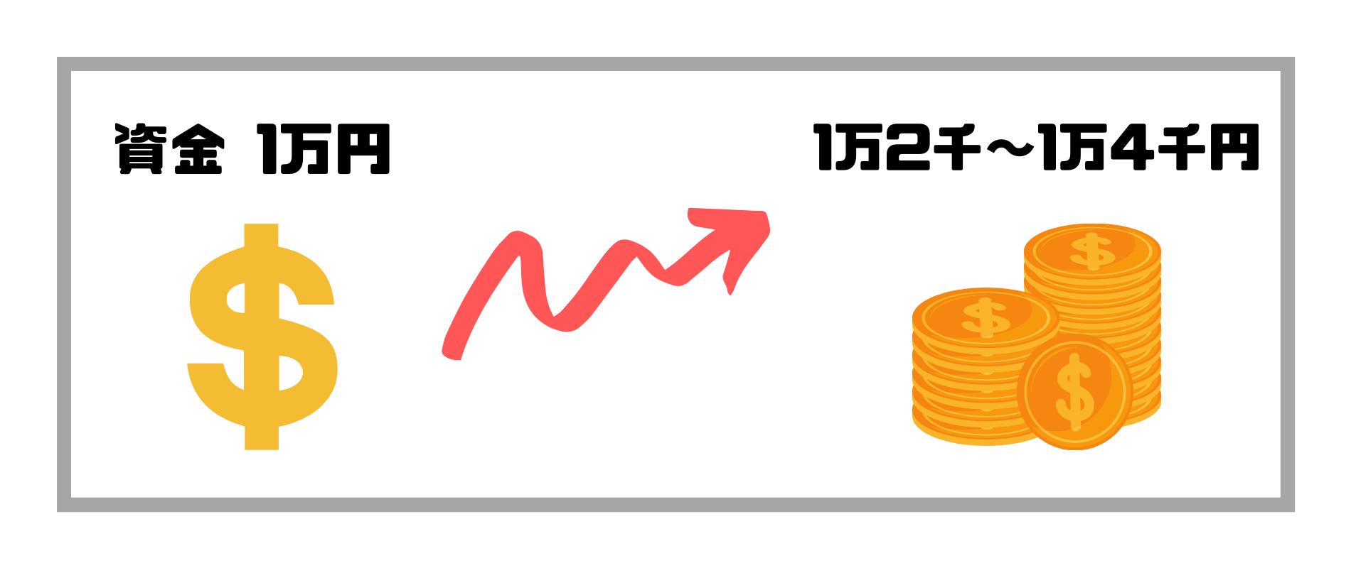 FX儲かる_資金1万円