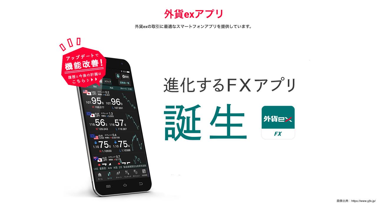 FX少額_YJFXのスマホアプリはとても便利