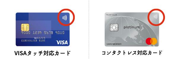 VISAタッチとMastercardコンタクトレス