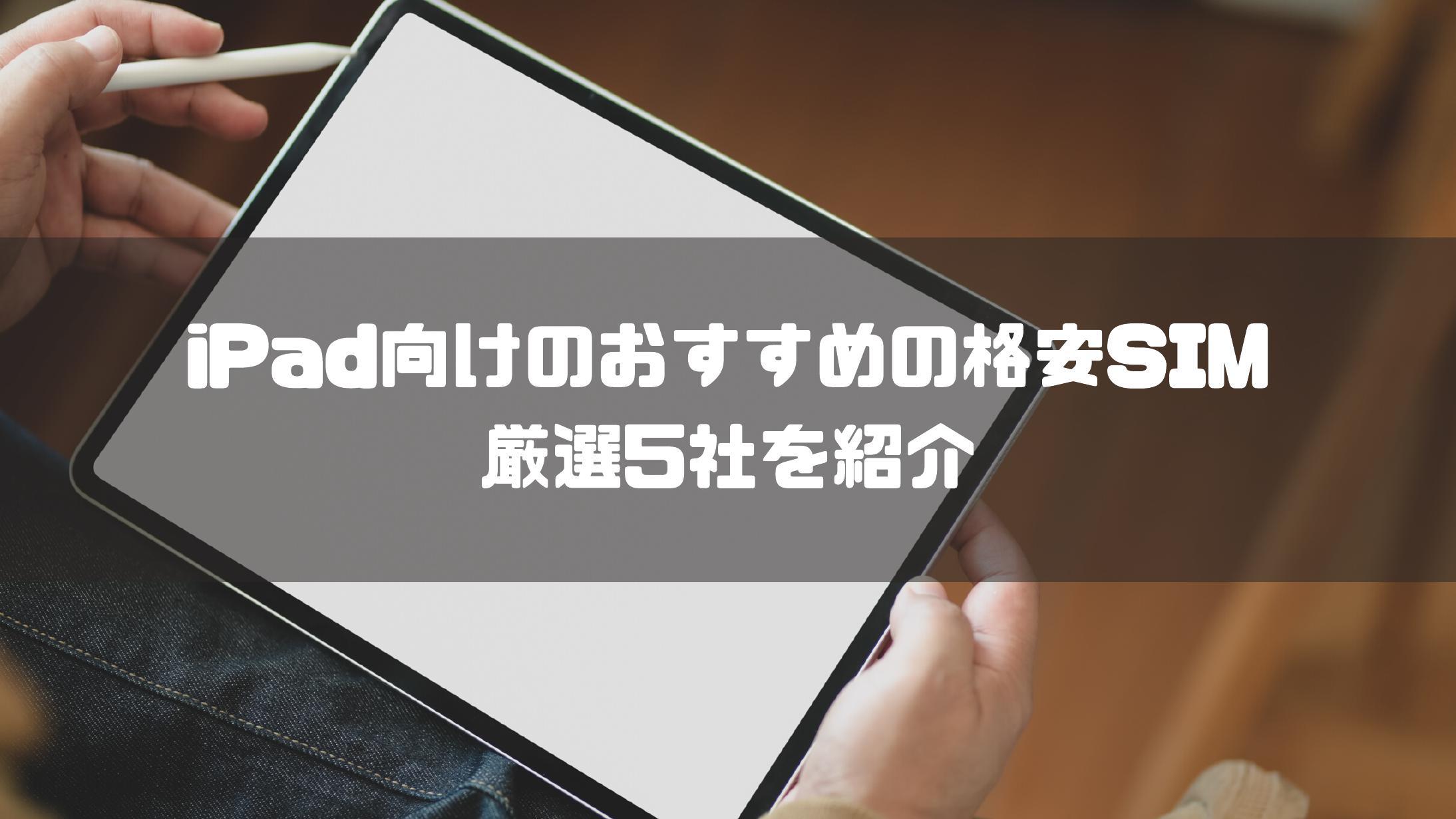 iPad_おすすめ_格安SIM_Y!mobile_OCNモバイルONE_IIJmio_LINEモバイル_mineo_マイネオ