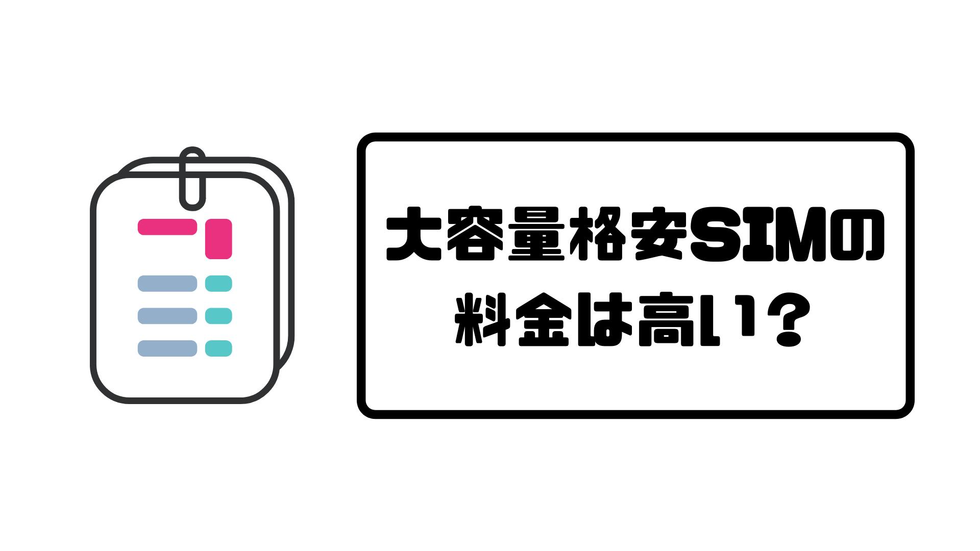 大容量格安sim_料金