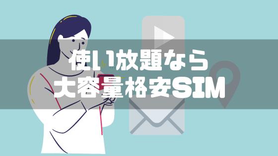 格安SIM_大容量