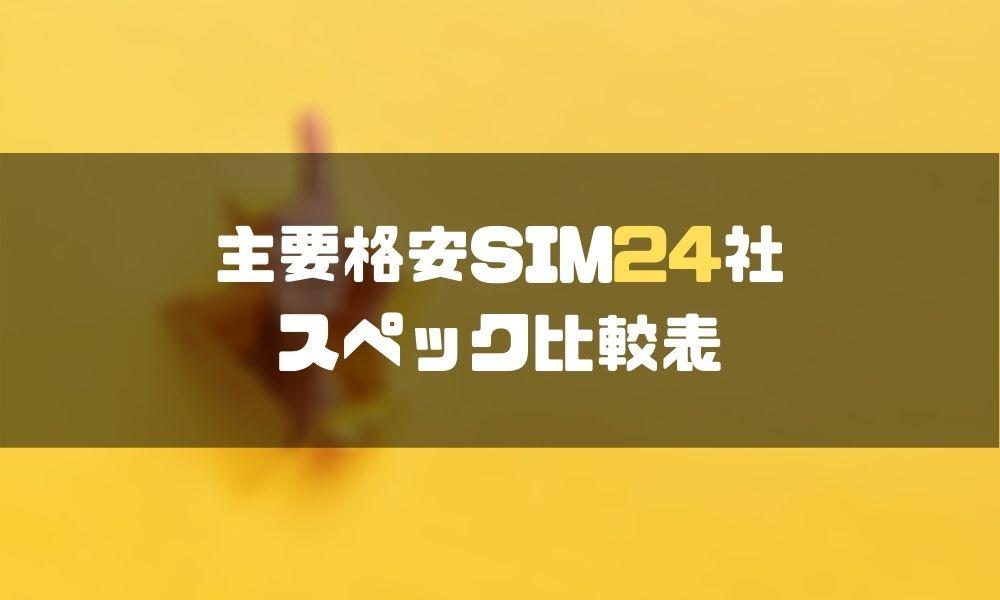 格安SIM_比較_24社_特徴_プラン_基本情報_音声通話_データのみ