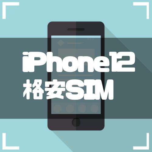 『iPhone12』におすすめの格安SIMはこれだ!大手キャリアの分離プランと徹底比較