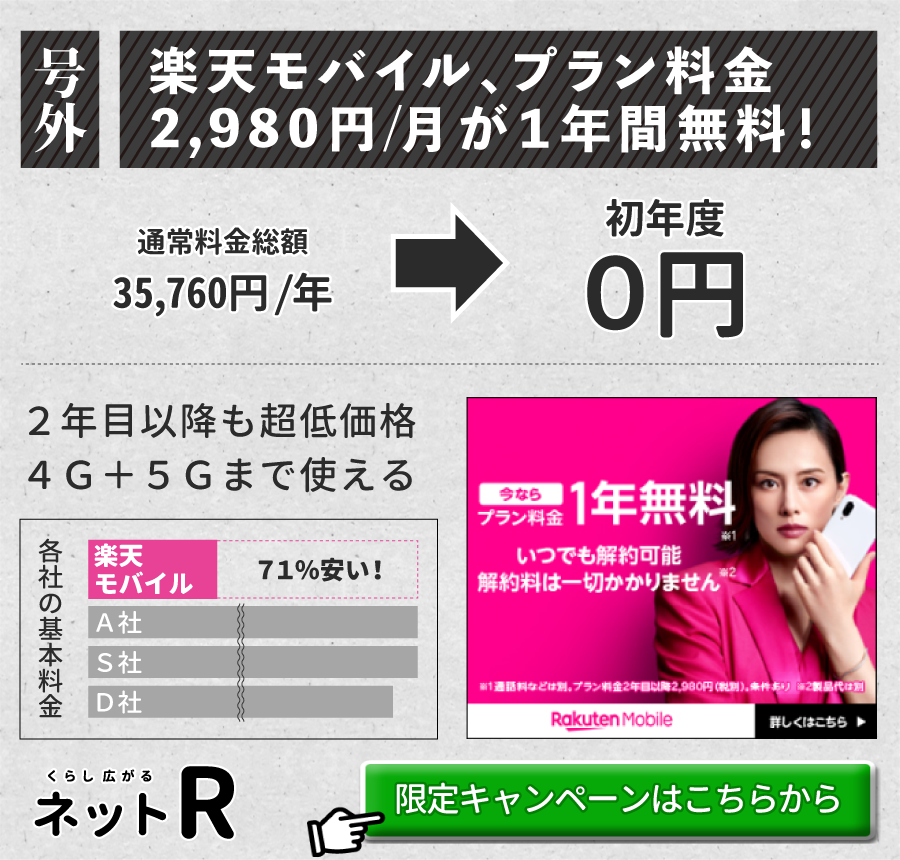 iPhone12_楽天モバイル_訴求