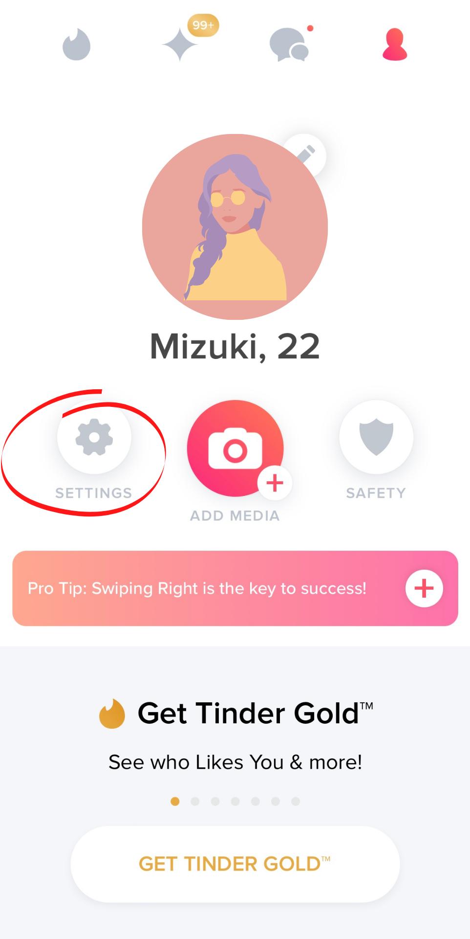 Tinder_退会方法_設定