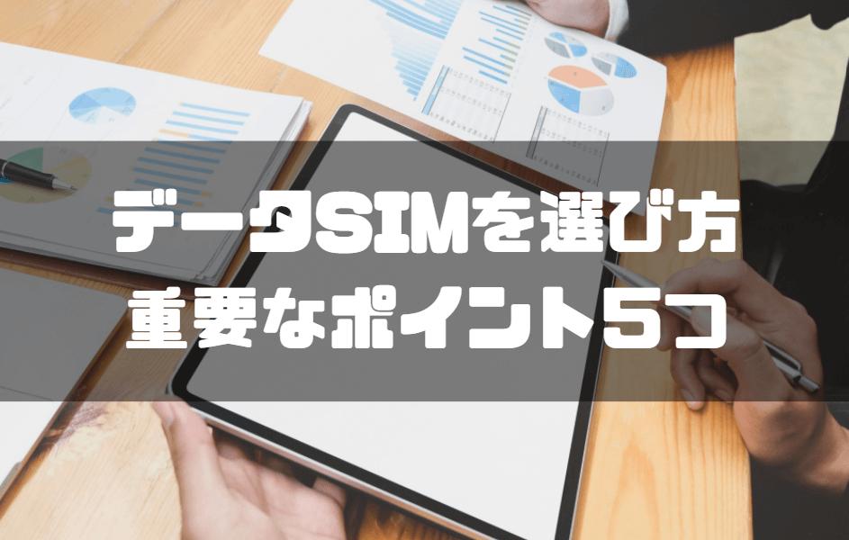 データSIM_おすすめ_データSIMの選び方重要なポイント5つ
