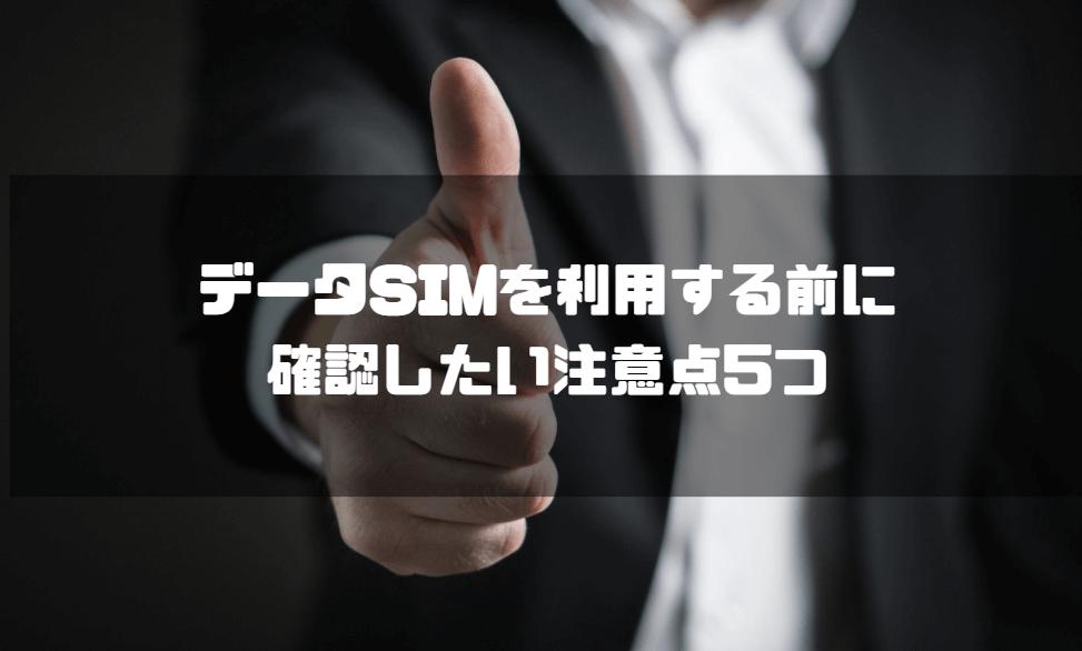 データSIM_おすすめ_注意点5つ