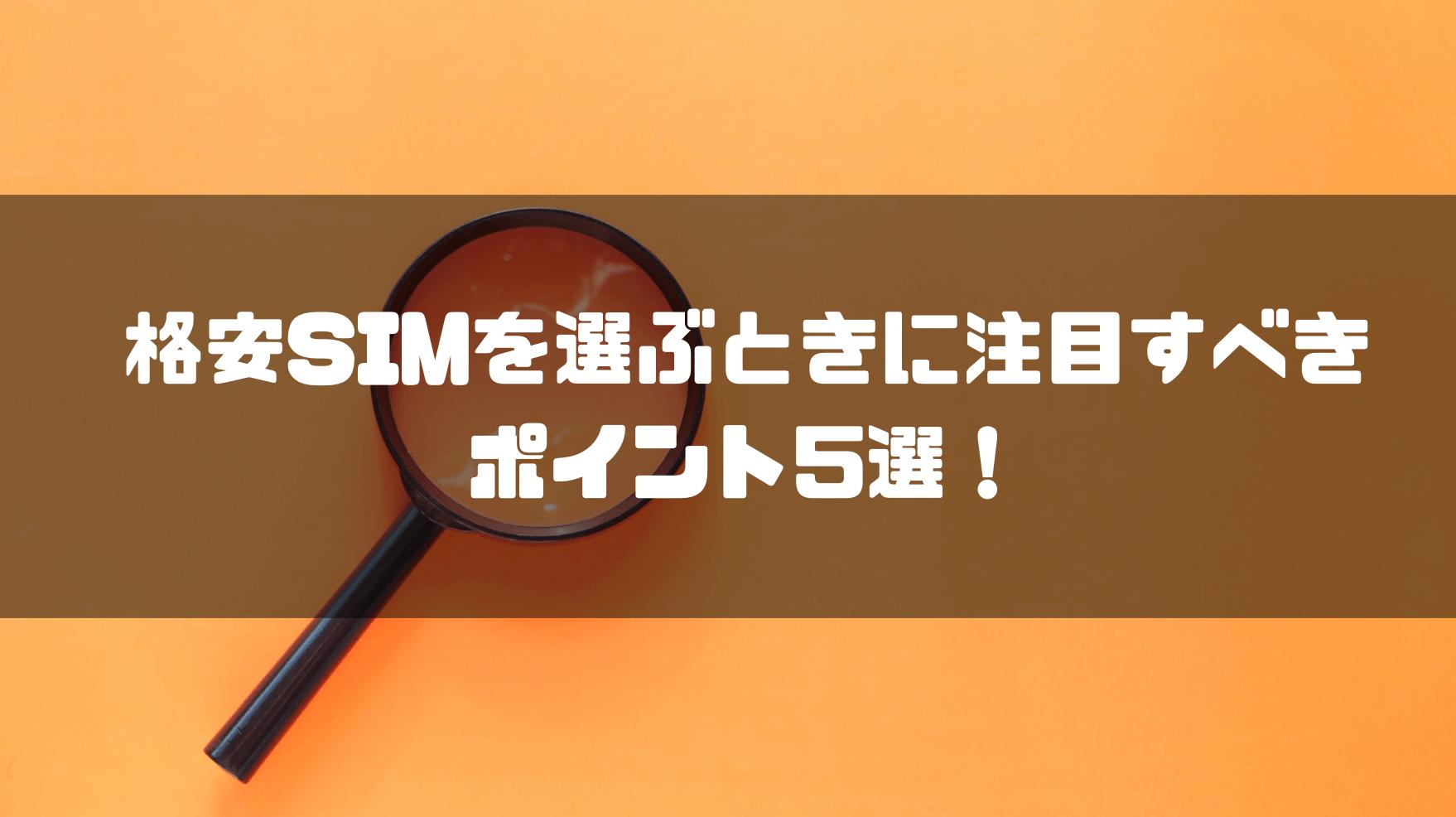 格安SIM_おすすめ_ポイント_5選