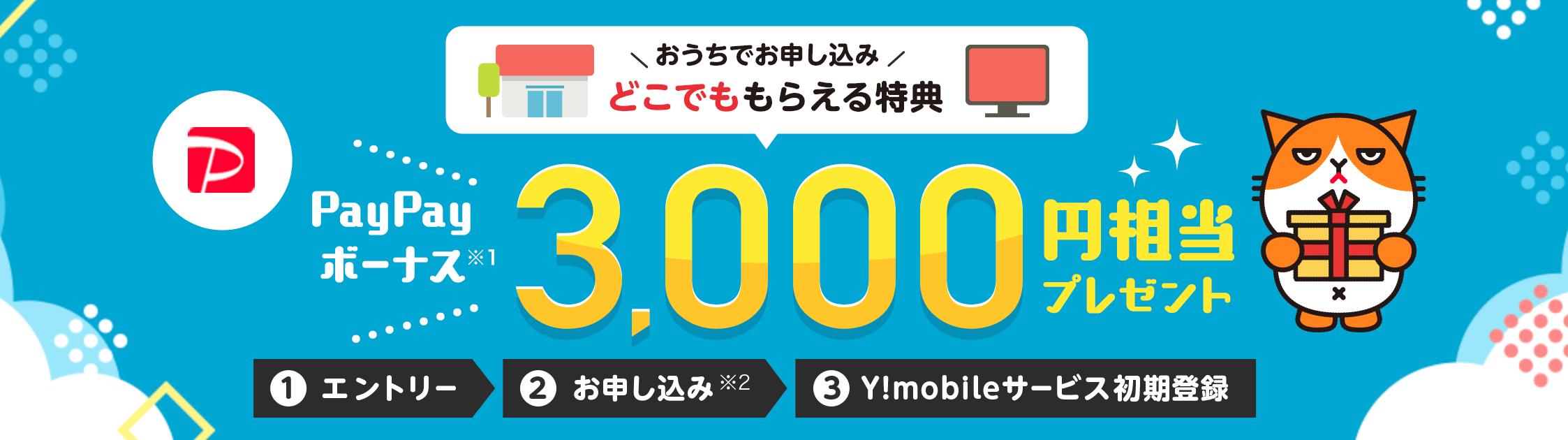 格安SIM_キャンペーン_ワイモバイル_Y!mobile_ymobile_どこでももらえる特典