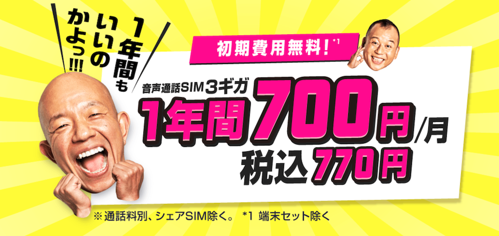 格安SIM_キャンペーン_biglobe_BIGLOBE_プラン月額料金値引き特典