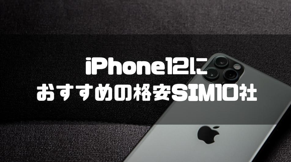 格安SIM_iphone12_iPhone12_おすすめ_格安SIM