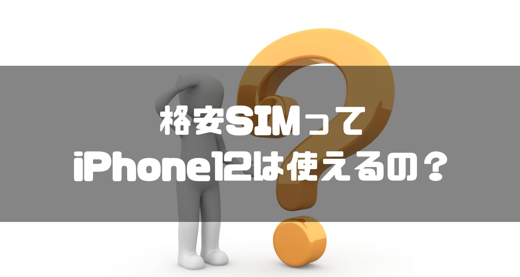 格安SIM_iphone12_iPhone12_おすすめ_格安SIM_iPhone12