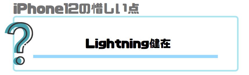 iPhone12_レビュー_惜しい点_Lightningの健在