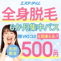 全身脱毛1回300円(税込)
