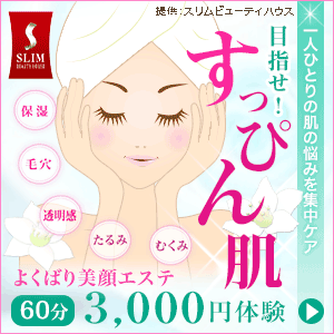 【フェイシャル】よくばり美顔体験 1回60分 3,000円