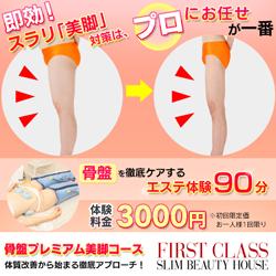 【脚】骨盤美脚プレミアム体験 1回90分 3,000円