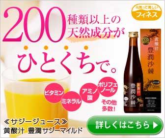 成功するスーパーフルーツドリンク【黄酸汁(こうさんじる)豊潤サジー】の秘密