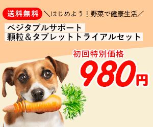 謝礼UP!!ワンちゃん用サプリ【ベジタブルサポート】商品モニター