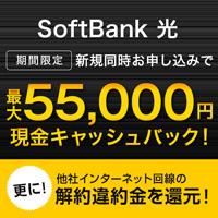 家族がトクする超高速インターネット【SoftBank 光】